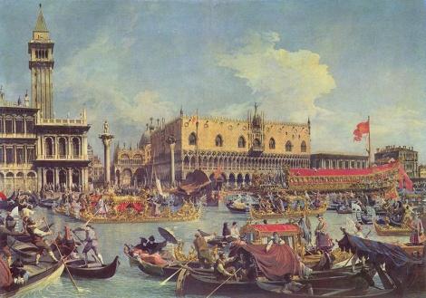 Obraz Benátek od slavného malíře Canaletta, konec 18. století.
