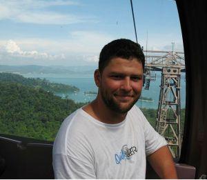 Výlet lanovkou na jeden z vrcholů Langkawi.