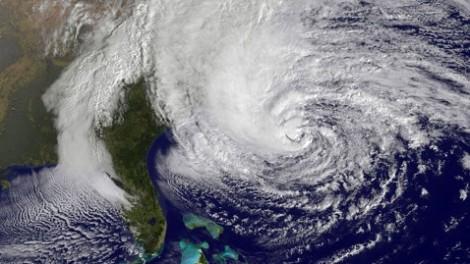 Hurikán Sandy. Zdroj: NASA