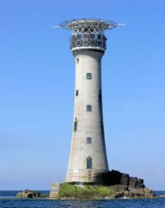 Maják Les Hanois na ostrově Guernsey