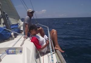 Závody nezávody, na palubě Janny vládně vždycky pohoda :)