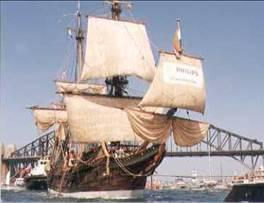 Krásná Batavia na plavbě.
