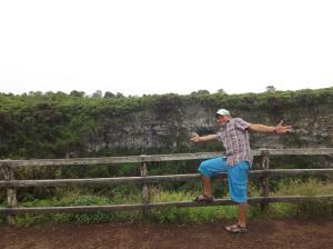 Výlet ke kráteru.