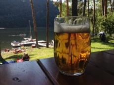 Pivo v popředí, Ochechule v pozadí.
