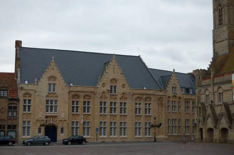 Náměstí v Nieuwpoortu.