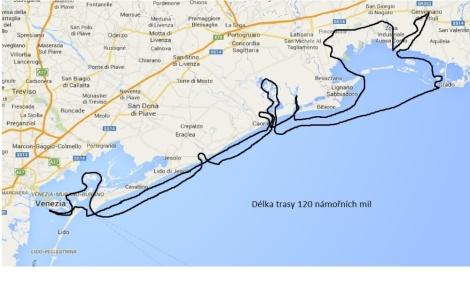 Mapa s trasou