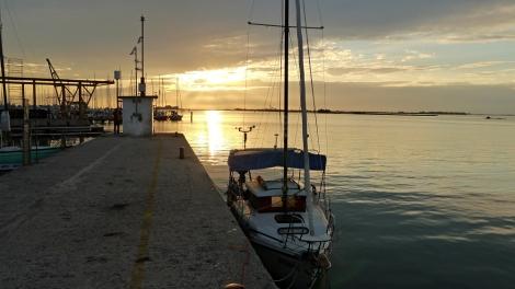 Molo v městě Grado