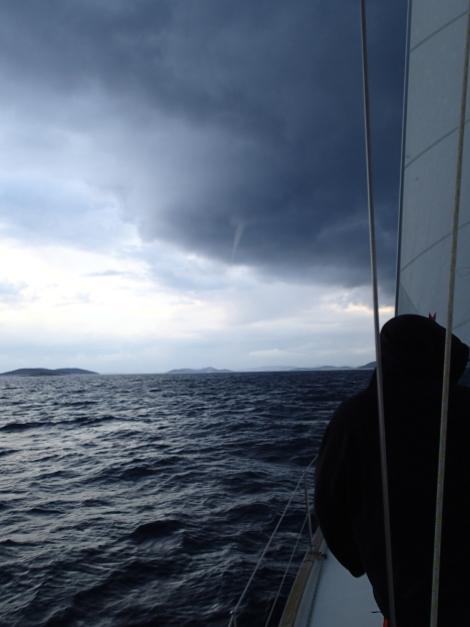 Špatné počasí může zasáhnout kdykoliv - jako toto tornádo v Chorvatsku.